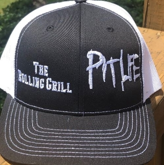 The Rolling Grill (Snapback) Trucker Hat - Black/White