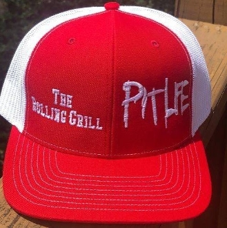 The Rolling Grill (Snapback) Trucker Hat - Red/White